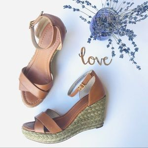 Boden Jute Wrapped Leather Wedge